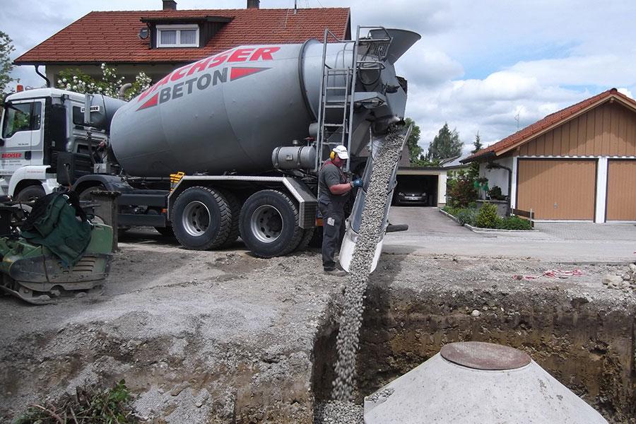 Entwässerungsarbeiten, Zisternen, Rinnen, Hofabläufe